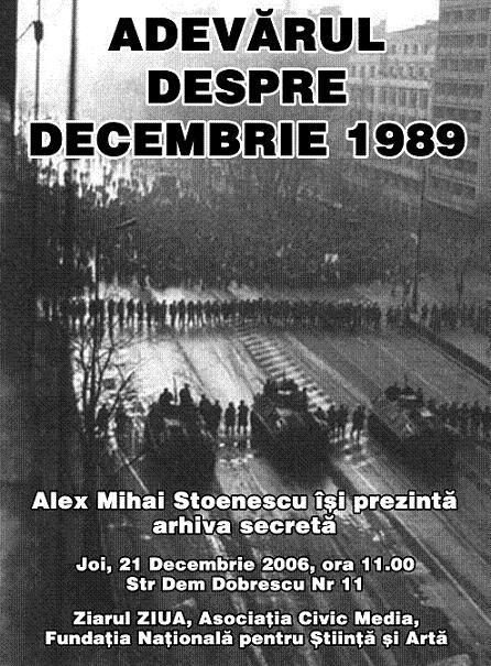 21-decembrie-1989 Adevarul despre Lovituta de Stat - Civic Media - Alex MIhai Stoenescu