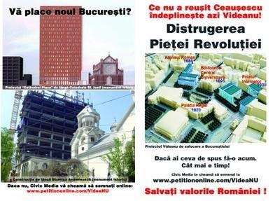 Afis Salvati Catedrala Sf Iosif si Piata Revolutiei Civic Media