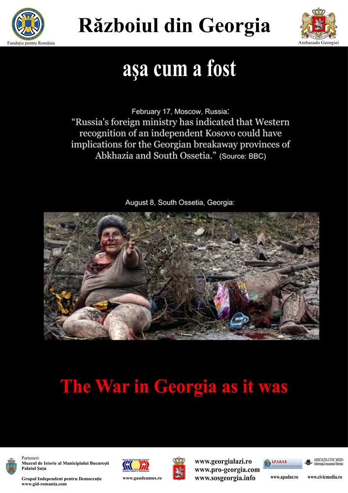 Razboiul din Georgia asa cum a fost - Expozitie Foto - Muzeul de Istorie - FPR - Civic Media